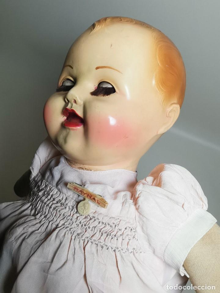 Muñecas Celuloide: Bebé Raynal celuloide cuerpo trapo..43 cm ojos oscilantes-francia años 40 - Foto 32 - 193740175