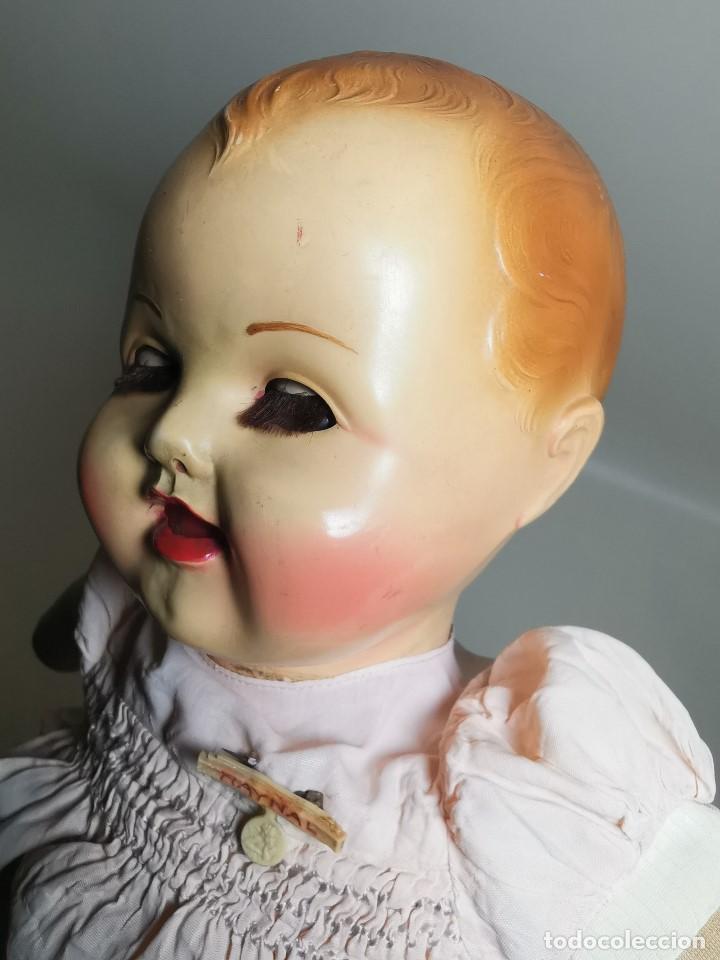 Muñecas Celuloide: Bebé Raynal celuloide cuerpo trapo..43 cm ojos oscilantes-francia años 40 - Foto 33 - 193740175
