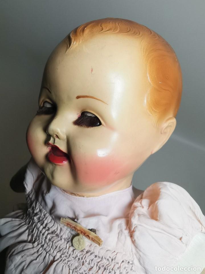 Muñecas Celuloide: Bebé Raynal celuloide cuerpo trapo..43 cm ojos oscilantes-francia años 40 - Foto 34 - 193740175