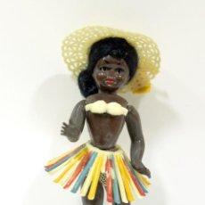 Muñecas Celuloide: MUÑECA ARTICULADA Y OJOS DURMIENTES. NEGRA HAWAIANA MUY ANTIGUA.. Lote 194399435