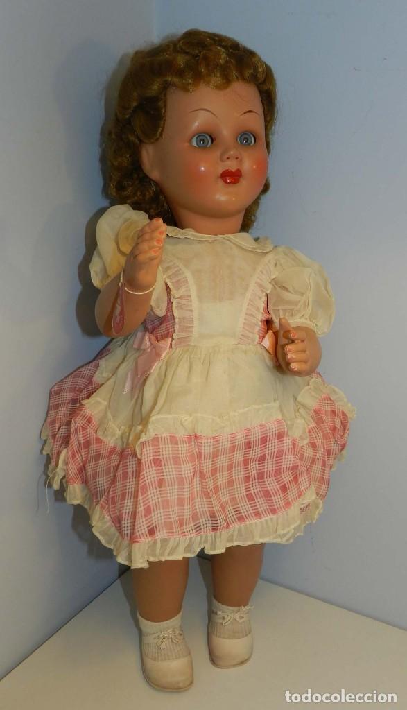 Muñecas Celuloide: Impecable muñeca italiana,MI GLIORATI años 40, lleva la etiqueta colgada en la man - Foto 4 - 197873172