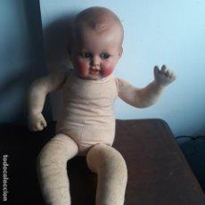 Bonecas Celuloide: MUÑECO ,CABEZA CELULOIDE O PLATICO,CUERPO TELA. Lote 197903493