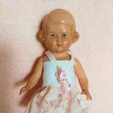 Bonecas Celuloide: MUÑECA ANTIGUA DE CELULOIDE DE SCHILDROT-TORTUGA- TURTLE MARK 1940-1950. Lote 205802845