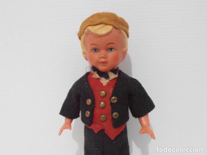 Muñecas Celuloide: ANTIGUO MUÑECO NIÑO CELULOIDE A CUERDA FUNCIONA, FRANCIA - Foto 2 - 206159113