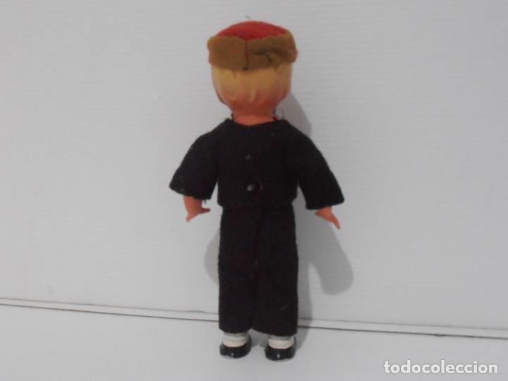Muñecas Celuloide: ANTIGUO MUÑECO NIÑO CELULOIDE A CUERDA FUNCIONA, FRANCIA - Foto 4 - 206159113