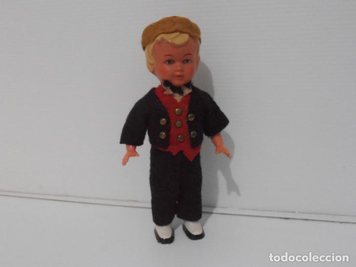 Muñecas Celuloide: ANTIGUO MUÑECO NIÑO CELULOIDE A CUERDA FUNCIONA, FRANCIA - Foto 7 - 206159113