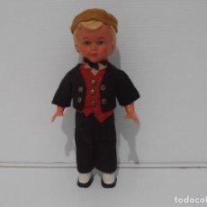 Muñecas Celuloide: ANTIGUO MUÑECO NIÑO CELULOIDE A CUERDA FUNCIONA, FRANCIA. Lote 206159113