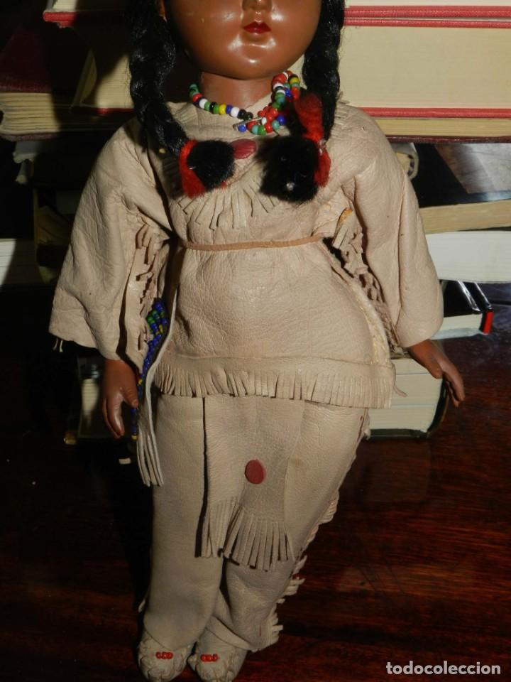Muñecas Celuloide: ANTIGUA MUÑECA INDIA CON TRAJE SIMIL CUERO, TIPO GEYPERMAN, REALIZADA EN CELULOIDE, GRAN CALIDAD, OJ - Foto 4 - 209654636