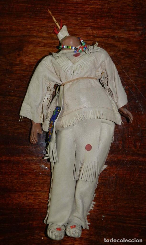 Muñecas Celuloide: ANTIGUA MUÑECA INDIA CON TRAJE SIMIL CUERO, TIPO GEYPERMAN, REALIZADA EN CELULOIDE, GRAN CALIDAD, OJ - Foto 6 - 209654636