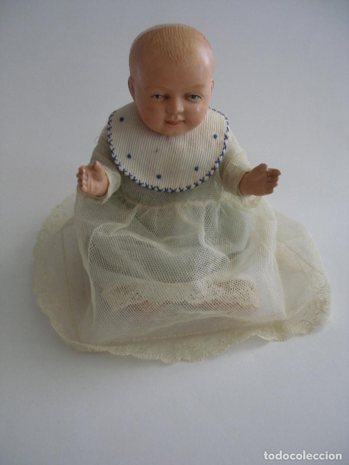 Muñecas Celuloide: Antiguo muñeco bebé celuloide fino cáscara de huevo ropa original Deposé Francia años 20 - Foto 2 - 217536478