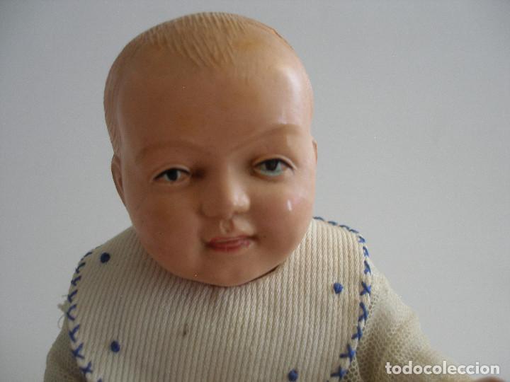Muñecas Celuloide: Antiguo muñeco bebé celuloide fino cáscara de huevo ropa original Deposé Francia años 20 - Foto 6 - 217536478