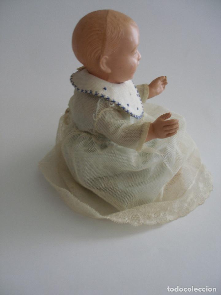 Muñecas Celuloide: Antiguo muñeco bebé celuloide fino cáscara de huevo ropa original Deposé Francia años 20 - Foto 7 - 217536478