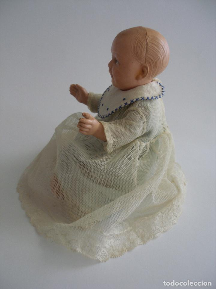 Muñecas Celuloide: Antiguo muñeco bebé celuloide fino cáscara de huevo ropa original Deposé Francia años 20 - Foto 8 - 217536478