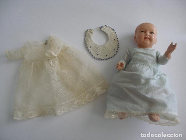 Muñecas Celuloide: Antiguo muñeco bebé celuloide fino cáscara de huevo ropa original Deposé Francia años 20 - Foto 9 - 217536478