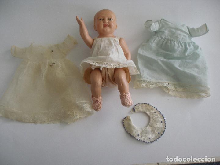 Muñecas Celuloide: Antiguo muñeco bebé celuloide fino cáscara de huevo ropa original Deposé Francia años 20 - Foto 11 - 217536478