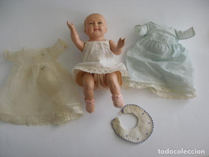 Muñecas Celuloide: Antiguo muñeco bebé celuloide fino cáscara de huevo ropa original Deposé Francia años 20 - Foto 13 - 217536478