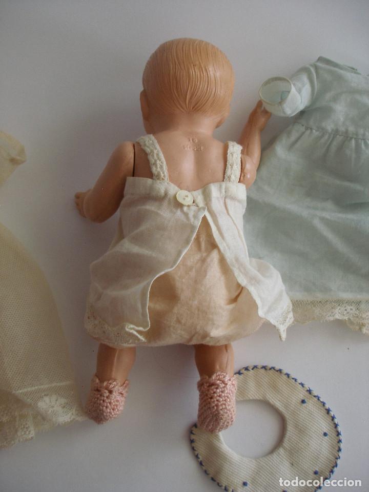 Muñecas Celuloide: Antiguo muñeco bebé celuloide fino cáscara de huevo ropa original Deposé Francia años 20 - Foto 15 - 217536478