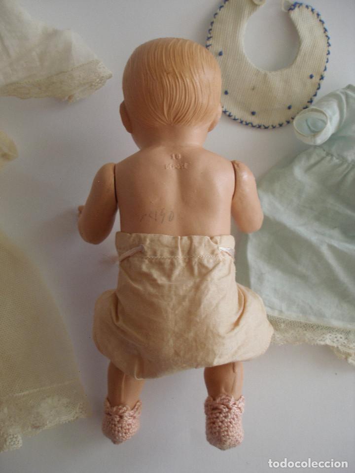 Muñecas Celuloide: Antiguo muñeco bebé celuloide fino cáscara de huevo ropa original Deposé Francia años 20 - Foto 17 - 217536478