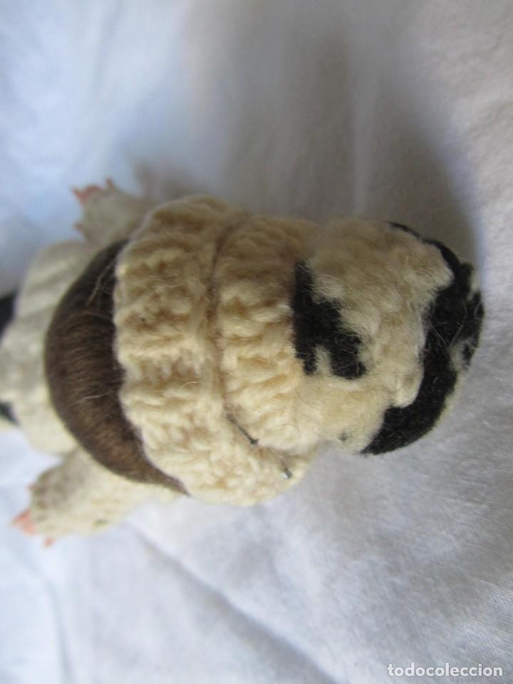 Muñecas Celuloide: Antigua muñeca esquiadora cabeza celuloide ojos basculantes, esquies y bastones de madera - Foto 7 - 222492728