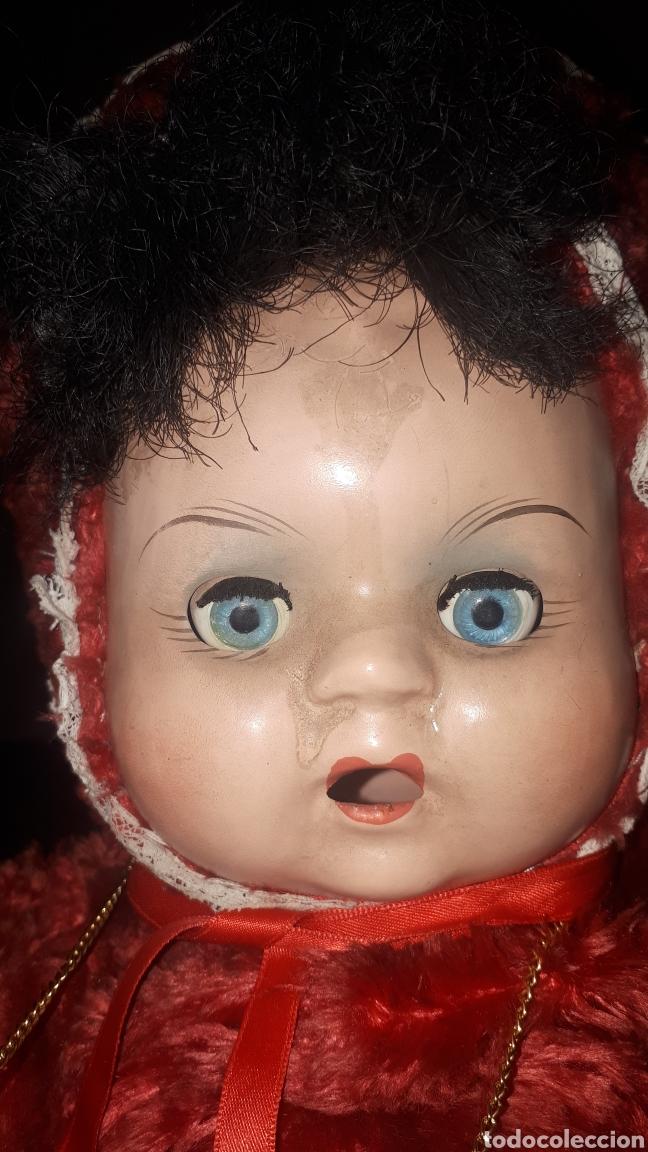 Muñecas Celuloide: Curioso peluche con cabeza y manos humanas de celuloide ojos batientes sin marca leer descripción - Foto 5 - 222810337
