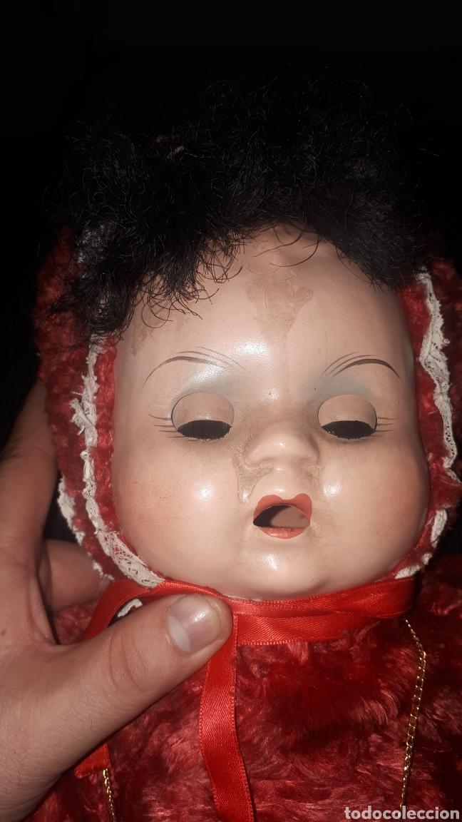 Muñecas Celuloide: Curioso peluche con cabeza y manos humanas de celuloide ojos batientes sin marca leer descripción - Foto 6 - 222810337