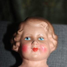 Bambole Celluloide: CABEZA DE MUÑECA ANTIGUA HECHA DE PAPEL / CARTÓN, PINTURA EN MUY BUEN ESTADO / GERMANY AÑOS 40/50. Lote 223284378
