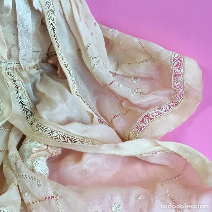 Muñecas Celuloide: Muñeco Bruno Schmidt, Schuzt marke, de celuloide, traje en seda natural y bordados - Foto 2 - 224470743