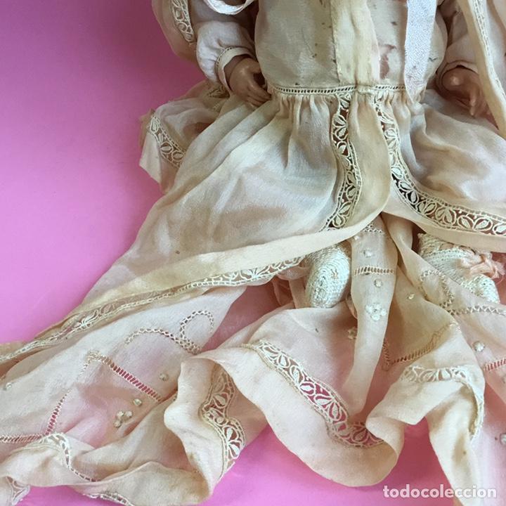 Muñecas Celuloide: Muñeco Bruno Schmidt, Schuzt marke, de celuloide, traje en seda natural y bordados - Foto 6 - 224470743