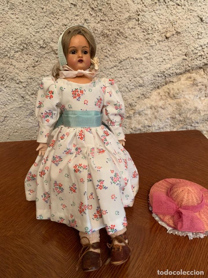 Muñecas Celuloide: Muñeca Kammer & Reinhardt, cuerpo de piel de cabritilla. 30 cms. Ojos durmientes. Años 1920. - Foto 3 - 224533570