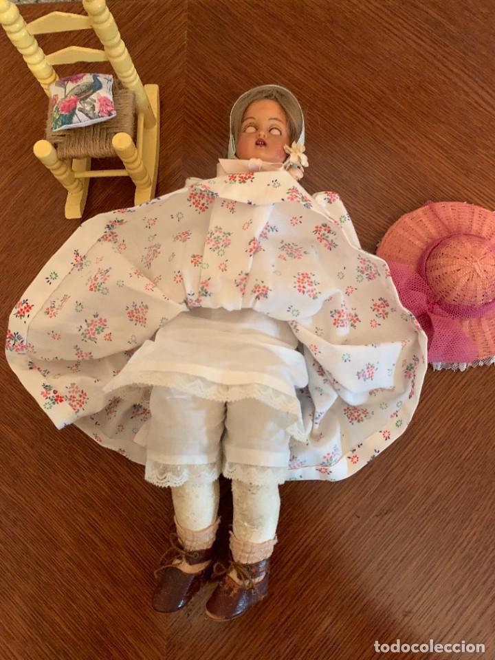 Muñecas Celuloide: Muñeca Kammer & Reinhardt, cuerpo de piel de cabritilla. 30 cms. Ojos durmientes. Años 1920. - Foto 4 - 224533570