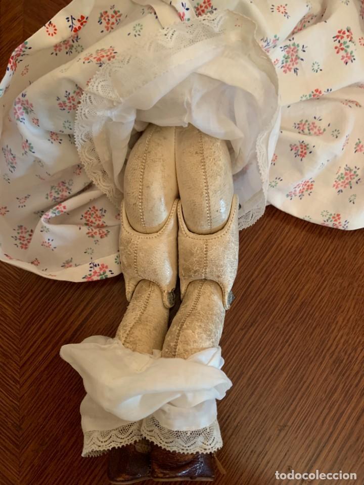 Muñecas Celuloide: Muñeca Kammer & Reinhardt, cuerpo de piel de cabritilla. 30 cms. Ojos durmientes. Años 1920. - Foto 6 - 224533570