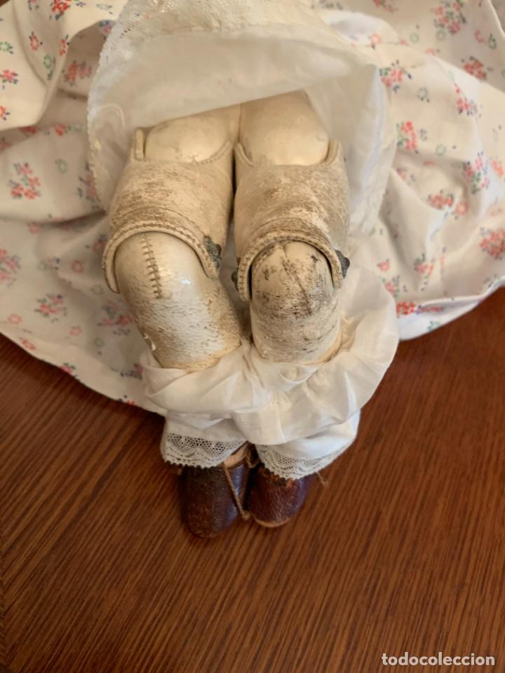 Muñecas Celuloide: Muñeca Kammer & Reinhardt, cuerpo de piel de cabritilla. 30 cms. Ojos durmientes. Años 1920. - Foto 9 - 224533570