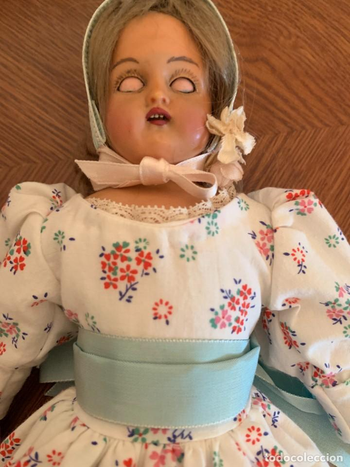 Muñecas Celuloide: Muñeca Kammer & Reinhardt, cuerpo de piel de cabritilla. 30 cms. Ojos durmientes. Años 1920. - Foto 10 - 224533570