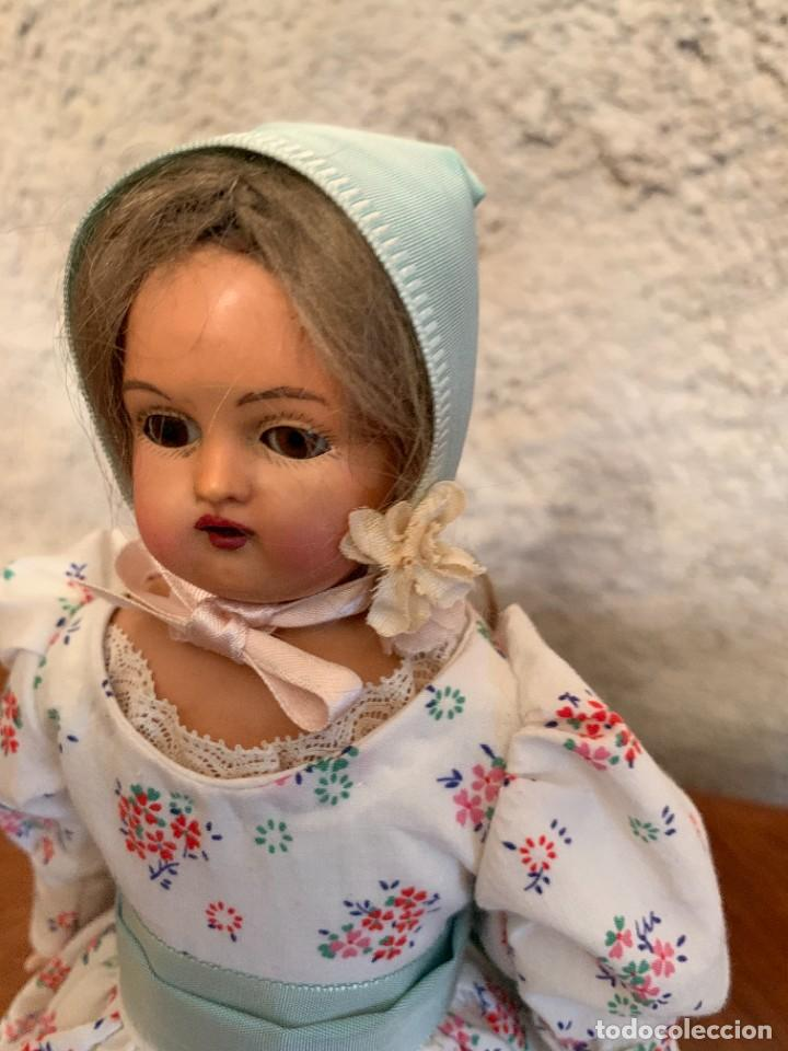 Muñecas Celuloide: Muñeca Kammer & Reinhardt, cuerpo de piel de cabritilla. 30 cms. Ojos durmientes. Años 1920. - Foto 13 - 224533570