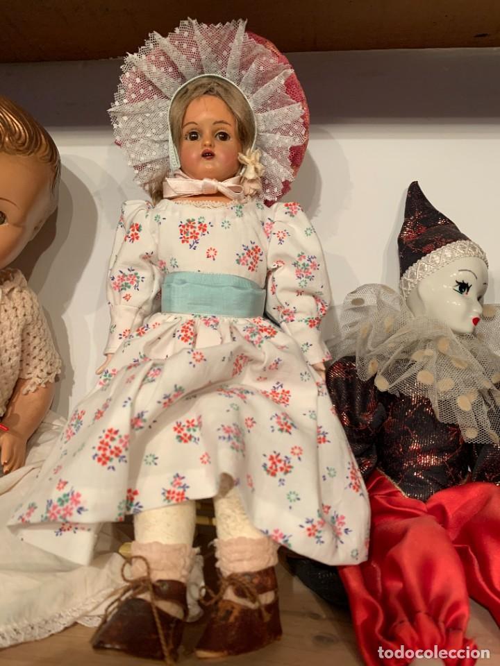 Muñecas Celuloide: Muñeca Kammer & Reinhardt, cuerpo de piel de cabritilla. 30 cms. Ojos durmientes. Años 1920. - Foto 21 - 224533570