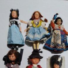 Muñecas Celuloide: 6 MUÑECOS MUÑECAS REGIONALES EUROPEOS EN BAKELITA CELULOIDE AÑOS 50/70 .. Lote 228840330