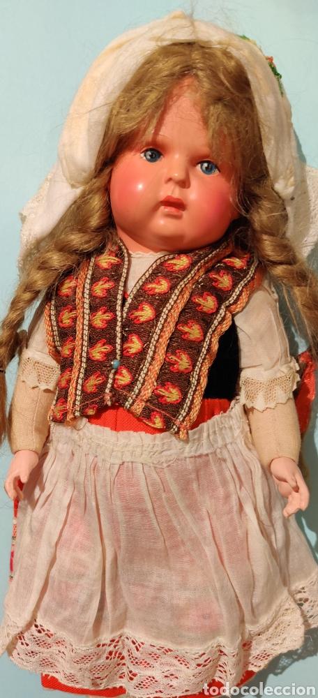 Muñecas Celuloide: Muñeca alemana Minerva 32 cm - Foto 3 - 232870460
