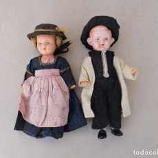 Muñecas Celuloide: PAREJA DE MUÑECOS DE CELULOIDE-PLASTICO - PLASTICBABY GERMANY. Lote 241886310