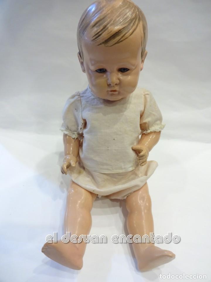 Muñecas Celuloide: Muy antiguo bebe celuloide. Marcado Tortuga en nuca - Foto 3 - 244665475
