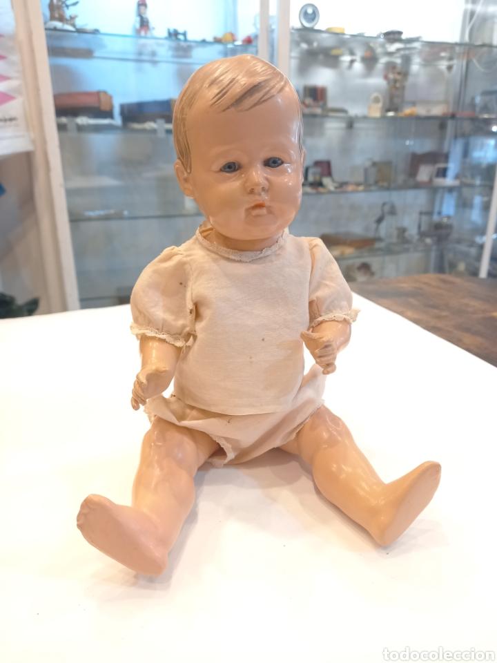 Muñecas Celuloide: Muy antiguo bebe celuloide. Marcado Tortuga en nuca - Foto 2 - 244665475
