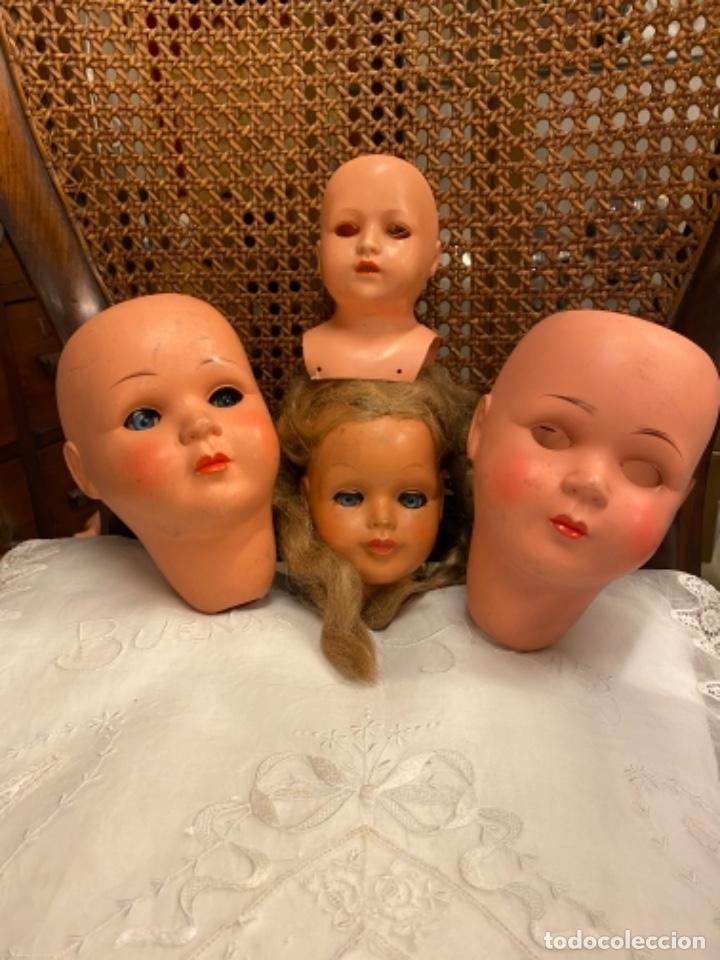 Muñecas Celuloide: Lote de 4 cabezas de muñecas antiguas celuloide - Foto 2 - 244773235