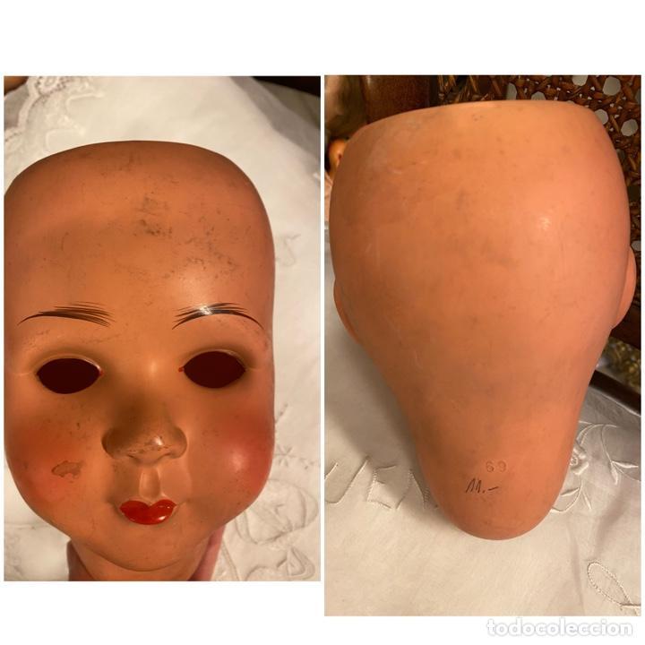 Muñecas Celuloide: Lote de 4 cabezas de muñecas antiguas celuloide - Foto 6 - 244773235