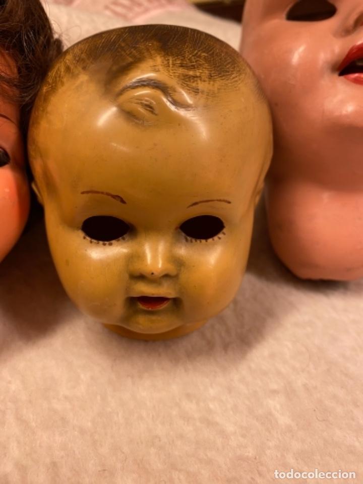 Muñecas Celuloide: Lote de 6 cabezas antiguas de celuloide - Foto 3 - 245238500