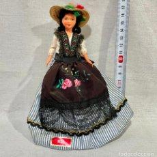 Bambole Celluloide: MUÑECA DE NIZA (FRANCIA) CELULOIDE TRAJE TÍPICO REGIONAL VINTAGE. Lote 253024425