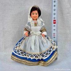 Bambole Celluloide: MUÑECA DE CELULOIDE TRAJE TÍPICO REGIONAL VINTAGE. Lote 253131925