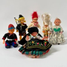 Muñecas Celuloide: ANTIGUOS MUÑECOS DE CELULOIDE OJOS DURMIENTES. Lote 253803075