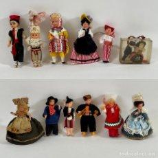 Muñecas Celuloide: 13 ANTIGUOS MUÑECOS DE CELULOIDE REGIONALES DE PAÍSES VINTAGE. Lote 254875390