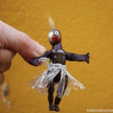 Muñecas Celuloide: MUÑECO NEGRITO DE CELULOIDE ARTICULADO Y PIEL, AÑOS 50. Lote 260400520