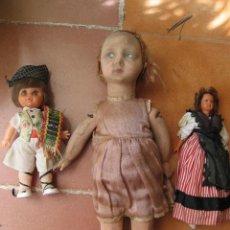 Muñecas Celuloide: INTERESANTE LOTE DE TRES MUÑECAS , UNA NECESITA LIMPIEZA, VER FOTOS. Lote 171408063