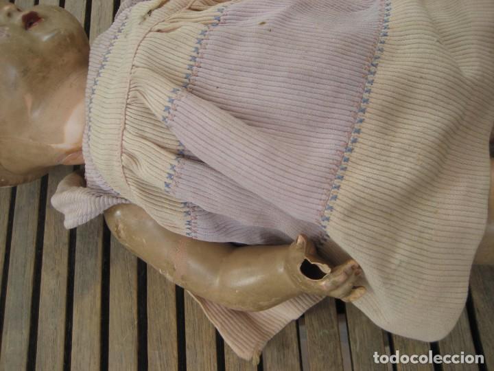 Muñecas Celuloide: antiguo muñeco aleman marca tortuga 37 cm . celuloide . con faltas - Foto 3 - 287319218